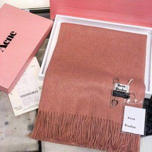 Acne studios Orange wool scarf
